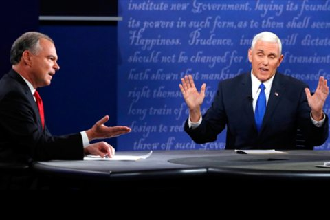 Image Mike Pence - Tim Kaine VP Debate