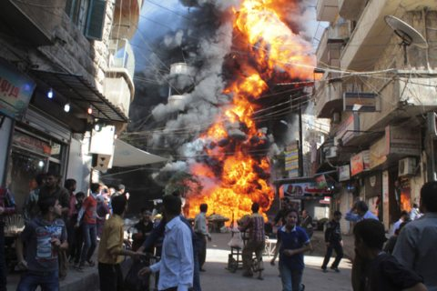 Image Syria Aleppo bombing