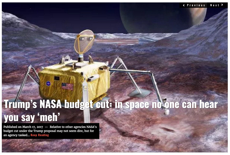 Image NASA budget