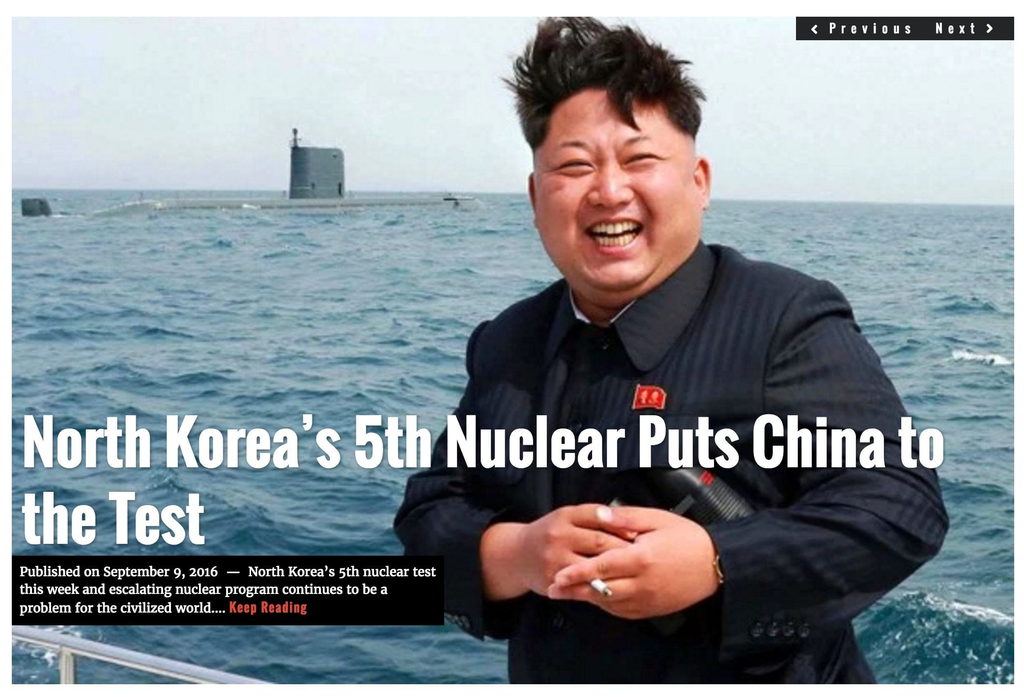 Image North Korean Lima Charlie headline