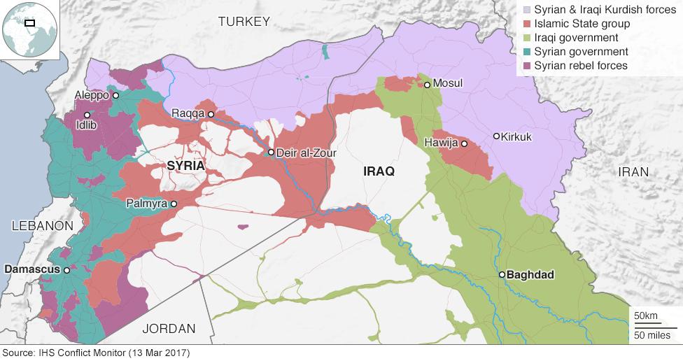 Image Syria Iraq map MAR13