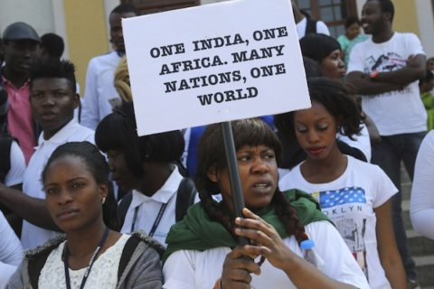 Image India Africa racial tensions