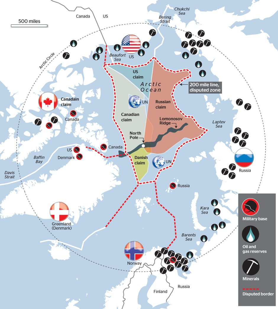Arctic Circle Russia Map.Russia S New Arctic Military Bases